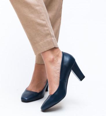 Pantofi Fyn Bleumarin