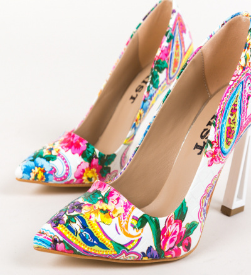 Pantofi Gingis Albi