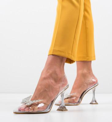 Pantofi Keiran Argintii