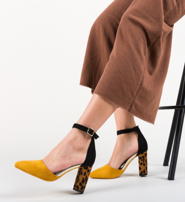 Pantofi Kory Galbeni