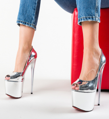 Pantofi Perception Argintii