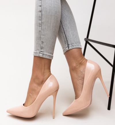 Pantofi Poppy Nude