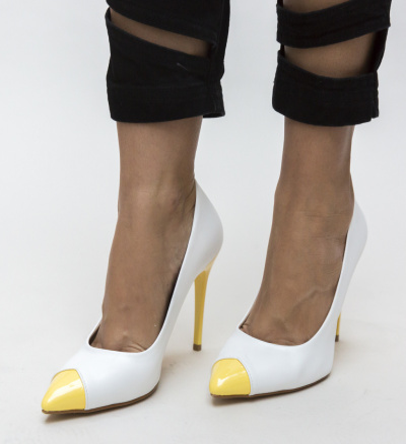 Pantofi Samara Albi