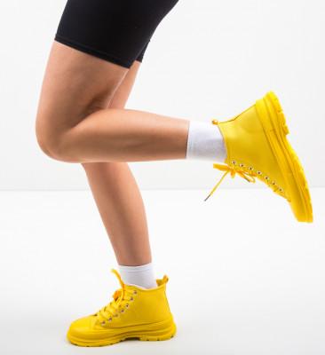 Pantofi Sport Braun Galbeni