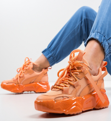 Pantofi Sport Hellty Portocalii