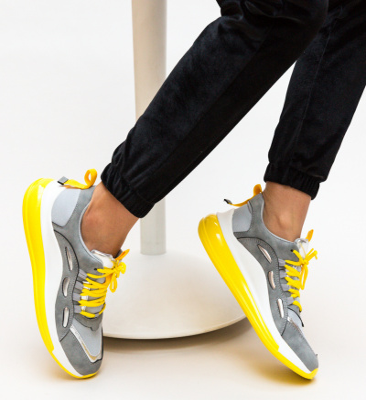 Pantofi Sport Rimen Gri