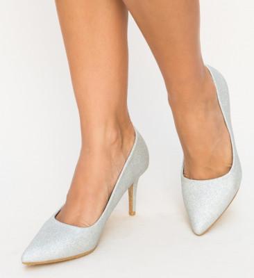 Pantofi Zeno Argintii
