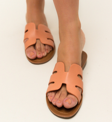 Papuci Nuala Portocalii