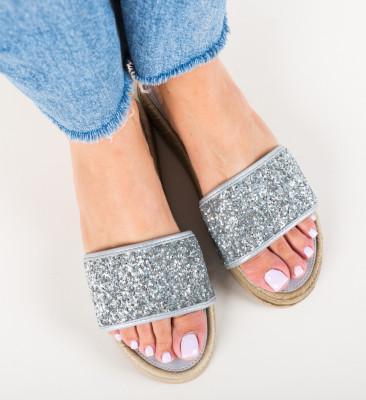 Papuci Pohak Argintii