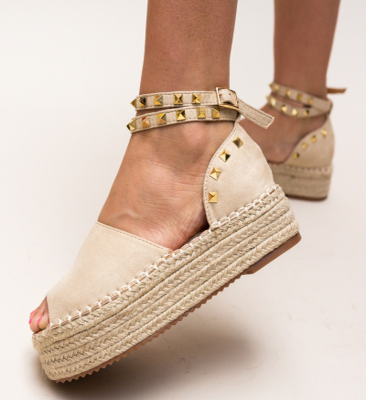 Sandale Belmica Bej