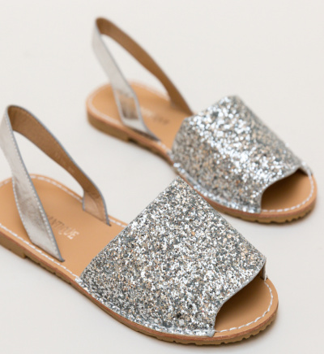 Sandale Crane Argintii