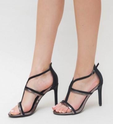 Sandale Cu Toc Ava Gri