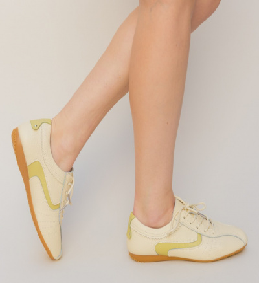 Pantofi Casual Perto Bej