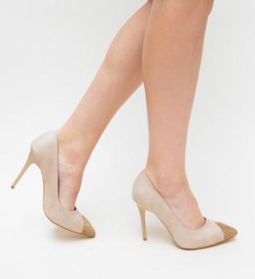 Pantofi Elino Bej