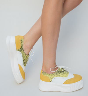 Pantofi Sport Tofer Galbeni