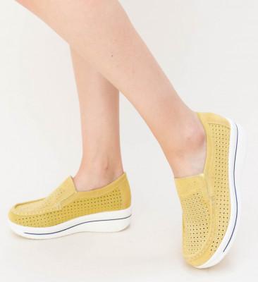 Pantofi Casual Sista Galbeni