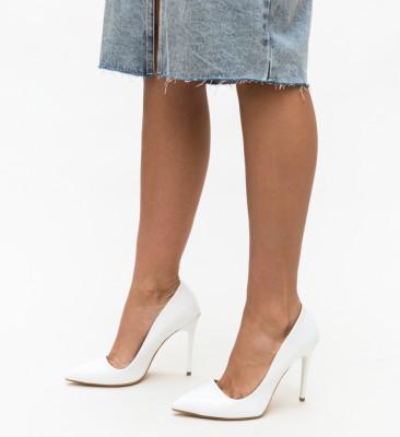 Pantofi Kylo Albi