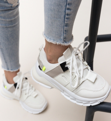 Pantofi Sport Zena Albi