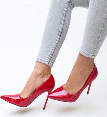 Pantofi Poppy Rosii
