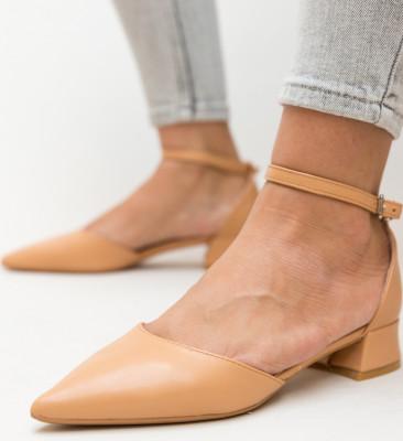 Pantofi Barrera Bej