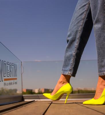 Pantofi Meidaro Galbeni