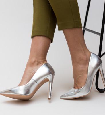 Pantofi Abiha Argintii