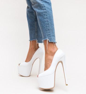 Pantofi Bujor Albi
