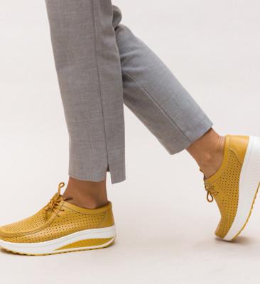 Pantofi Casual Baroco Galbeni
