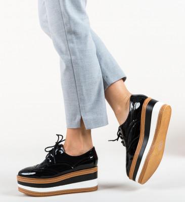 Pantofi Casual Barrow Negri