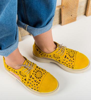 Pantofi Casual Brann Galbeni