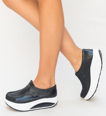 Pantofi Casual Cleva Negri
