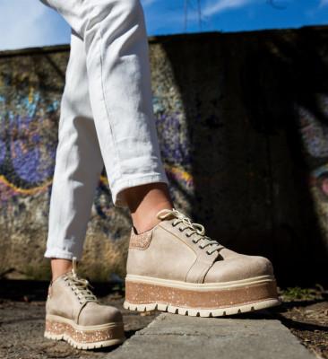 Pantofi Casual Cornero Bej