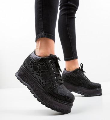 Pantofi Casual Cornero Negri 3