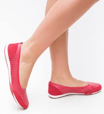 Pantofi Casual Doro Rosii
