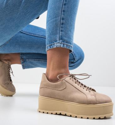 Pantofi Casual Dutano Bej