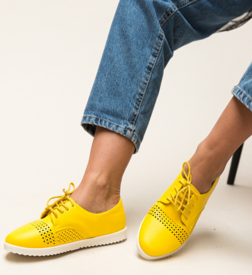 Pantofi Casual Indi Galbeni