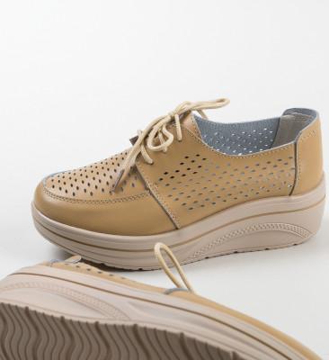Pantofi Casual Litiani Bej