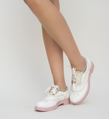 Pantofi Casual Lizete Albi