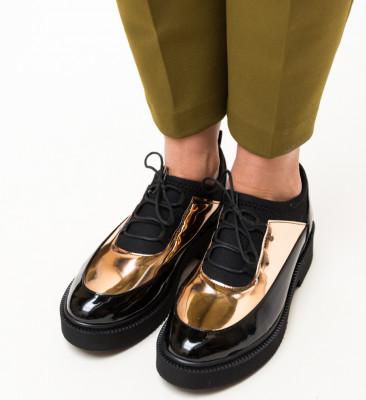Pantofi Casual Lukosi Aurii