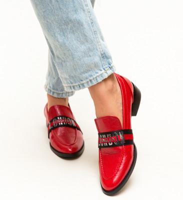 Pantofi Casual Menna Rosii
