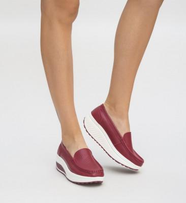 Pantofi Casual Musta Rosii