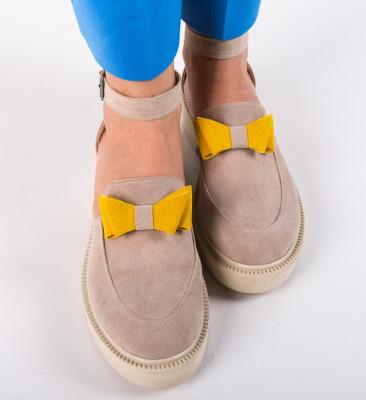 Pantofi Casual Pretty Bej 4