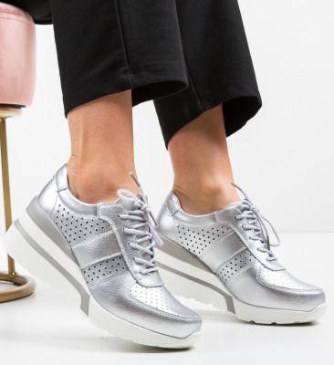 Pantofi Casual Viop Argintii
