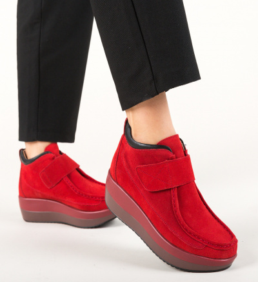 Pantofi Casual Zahraa Rosii