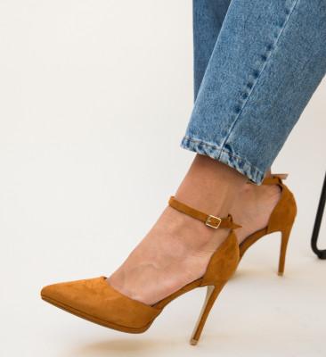 Pantofi Collier Camel