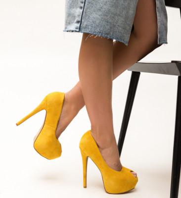 Pantofi Daguno Galbeni