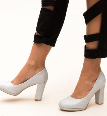 Pantofi Dezgo Argintii