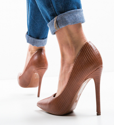 Pantofi Elen Camel