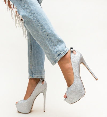 Pantofi Huda Argintii