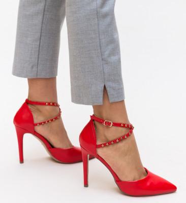 Pantofi Maxine Rosii